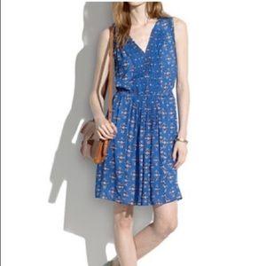 Madewell pleated floral dress